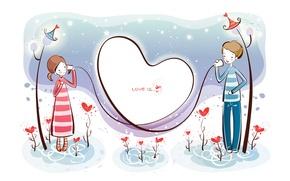 Picture love, romance, a couple