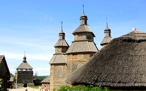 Picture island, Ukraine, reconstruction, Zaporizhia, the Church of the Intercession of the blessed virgin Mary, historical …