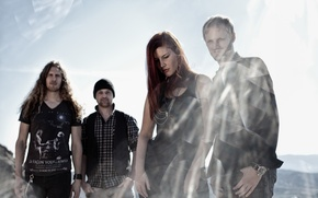 Picture light, glare, smoke, group, redhead, Delain, Charlotte Wessels