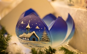Wallpaper winter, blue, new year, ball, Christmas, petal, christmas, new year, blue, winter, ball, petal