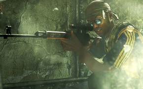 Picture glasses, SVD, call of duty, sight, rifle, bandana, sniper, optical, Dragunov