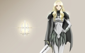 Picture weapons, Teresa, blonde, warrior, anime, Claymore, girl, sword, Teresa, Claymore, armor