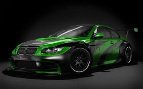 Wallpaper BMW, GTR, Black Studio