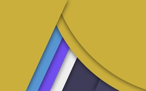 Picture line, blue, yellow, blue, geometry, design, color, material