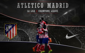 Picture wallpaper, logo, Nike, football, Spain, Atletico Madrid