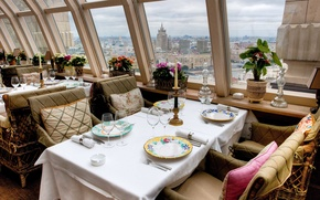 Picture interior, Moscow, panoramic restaurant