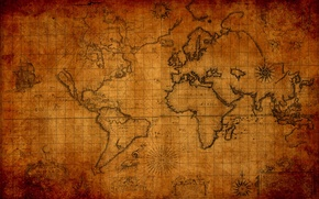Picture the world, map, old