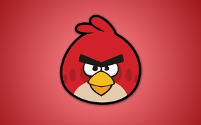 Wallpaper angry birds, video games, red, angry birds, birds, angry birds
