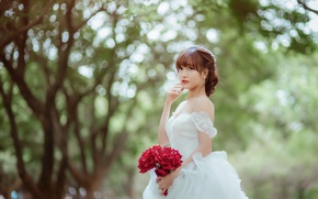 Picture girl, style, the bride