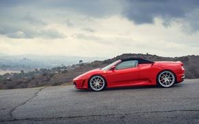 Picture Ferrari, supercar, red, side, Ferrari, spider, f-430, Spider, F-430