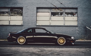 Picture tuning, nissan, black, profile, black, Nissan, low, Sylvia, s14, 240sx, stance