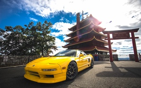 Picture Japan, yellow, Acura, NSX