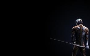 Picture sword, armor, back, metal gear solid fox
