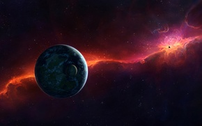 Picture red, cosmos, planet, sci fi