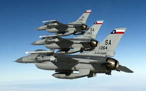 Wallpaper the sky, weapons, F-16, aircraft