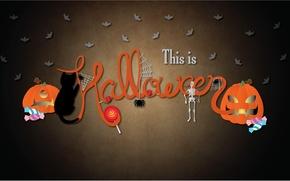 Wallpaper pumpkin, 2560x1440, Halloween, holiday, Halloween