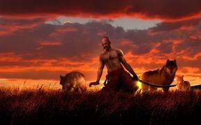 Picture sunset, The sun, Saber, Russian, Rus, Slavs, Paganism, cypma4, Cossack, Sich, Ukrainian, Slav, Characterniki, Belarusian, …