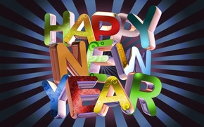 Picture holiday, new year, words, happy new year, congratulations