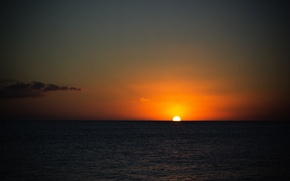 Picture sea, the sky, the sun, rays, sunrise, horizon, dobraatebe