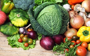 Picture colors, vegetable, various