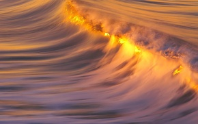 Picture water, sunset, Wave, comb