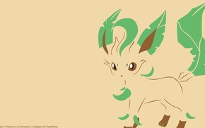 Picture tail, image, ears, tail, pokemon, pokemon, leafeon, deciduous, herbal