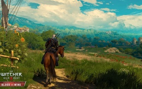 Wallpaper last, the game, Roach, Geralt, the Witcher, Blood and Wine, Blood and Wine, Supplement, adventure, ...