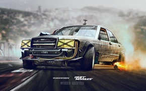 Picture mercedes, drift, missile, yasiddesign, w201