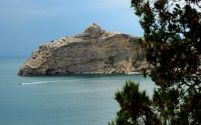 Picture sea, the sky, Mountains, Sudak