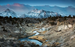 Picture CA, Eastern Sierra Nevada, Hot Creek, mountain canyon