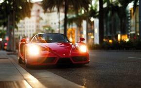 Picture supercar, Ferrari Enzo, street