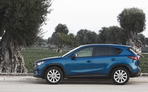 Picture blue, Mazda, blue sky, Crossover, CX-5