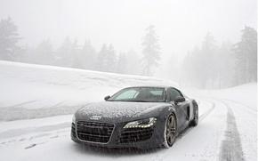 Wallpaper winter, snow, audi