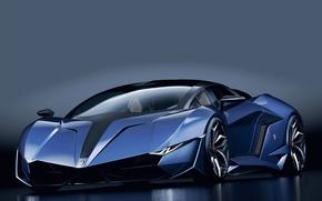 Picture Prototype, Lamborghini, DarkBlue, SuperCar
