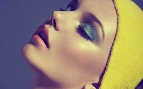 Picture face, model, lipstick, lips, shadows, Barbara Palvin