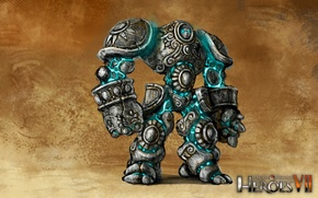 Picture art, art, Academy, heroes of might and magic 7, Might & Magic 7, Golem