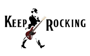 Picture white, text, background, the inscription, black, guitar, bass, minimalism, costume, guitar, words, cylinder, rocking, keep, …