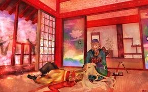 Picture art, guys, Kusuriuri Dark, Mononoke, Kusuriuri