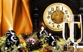 Picture Watch, New year, Decoration, Holiday, Toys, Garland