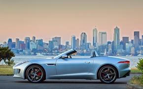 Picture landscape, city, Jaguar, F-Type S