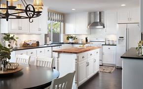 Picture interior, kitchen, retro style