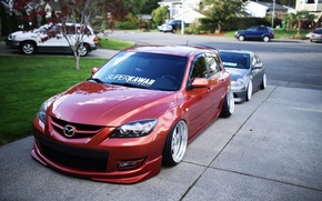 Picture wheels, mazda, japan, jdm, tuning, front, Mazda, face, low, stance, stance nation, mps, lowdaily, Mazda …