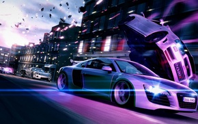Picture car, machine, race, racing, activision, Blur, special effects, bizarre creations