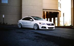 Picture white, volkswagen, tuning, Volkswagen, passat, Passat