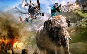 Picture elephant, shooting, Far Cry, Far Cry 4, Ajay Ghale, Ajay Gail