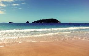 Picture sea, Islands, shore, surf