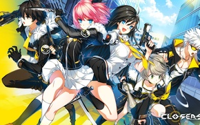 Picture girls, the game, anime, guys, Closers
