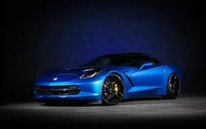 Picture Corvette, Chevrolet, blue