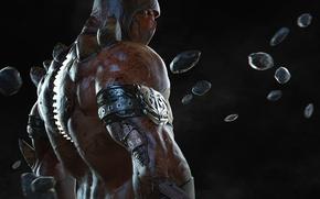 Picture male, fighter, ninja, Mortal Kombat, fan art, Tremor, Black Dragon