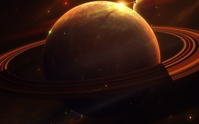 Picture light, planet, ring